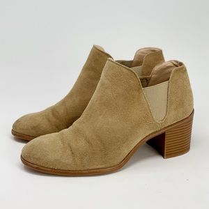 Zara Woman Tan Suede Ankle Boots